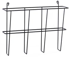 Cubicle Wall File   Steel Wire Construction, Black