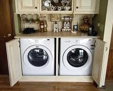 I don't care so much about hiding my washer and dryer, but the functionality around it is great.