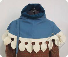 Blue Wool Men's 14th Century Medieval Hood