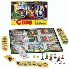 Black Friday 2014 Simpsons Clue from Hasbro Cyber Monday. Black Friday specials on the season most-wanted Christmas gifts. Simpsons Episodes, Simpsons Characters, The Simpsons, Clue Games, Board Games For Couples, Murder Mystery Games, Black Friday Specials, Vintage Board Games, Cool Deck