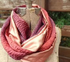 Burgundy infinity scarf by PaleDesign on Etsy, $23.00