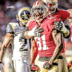 Anquan Boldin fired up against the Rams. #Boldin81 #49ers