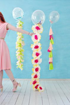DIY party Tassel balloons by LRS in the New Mollie Makes