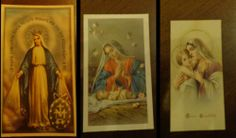 HOLY CARD - SANTINI - MADONNA - GESU' - SANTI