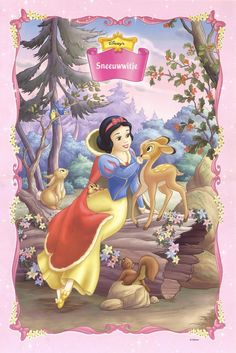 Snow White and her deer friend