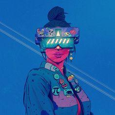 digital line pink color melt - Pink Things Cyberpunk Kunst, Sci Fi Kunst, Cyberpunk 2077, Art And Illustration, Character Illustration, Illustrations, Fantasy Kunst, Fantasy Art, Anime Kunst