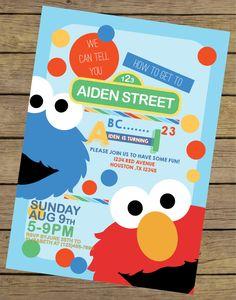 Sesame Street Invitation Elmo Invitation by CharlesAlexDesign