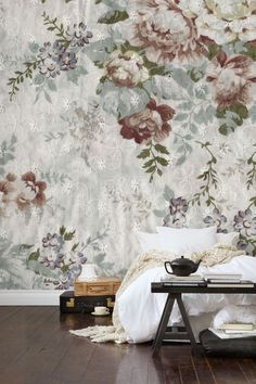 Blossom Soft Photo Wallpaper from Mr Perswall by Mr Perswall in the wallpaper collection Nostalgic. Customize and order photo wallpapers online. Zuber Wallpaper, Interior Wallpaper, Soft Wallpaper, Unique Wallpaper, Photo Wallpaper, Wallpaper Collection, Design Studio, Inspiration Wall, Black Decor