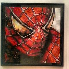 SpiderMan perler bead art  by Nesrin Yilmaz
