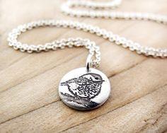 Petit collier Mésange, bijoux argent oiseau, collier oiseau, cadeau pour elle, cadeau pour femme, cadeau petite amie, cadeau collègue