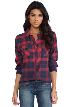 """LOVE this ombre plaid shirt by Rails """"Rails is a unique brand of fashion fusing California comfort activewear with European styling. High quality fabrics, narrow cuts, and unique lines; this collection is influenced by international travel and metropolitan lifestyle."""" $148."""