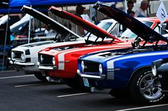Chevy Camaro SS.... in Red, White and Blue....Americas choice!
