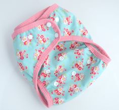 New to Zookaboo on Etsy: Floral Cloth Diaper Cover One Size Nappy Wrap Waterproof Shell Handmade Ready to Ship (15.50 USD)