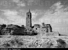 Spain - 1937. - GC - Remains of the church destroyed - Old Belchite (Zaragoza)