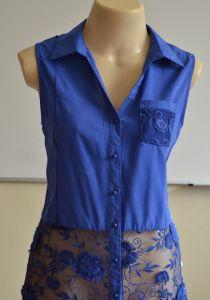 DIY - molde, corte e costura - Marlene Mukai Fashion Sewing, Diy Fashion, Ideias Fashion, Fashion Outfits, Sewing Clothes, Diy Clothes, Fabric Combinations, Blouse Dress, Blue Blouse