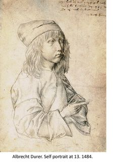 Self portrait at 13 by Albrecht Durer--100 self portraits on this site