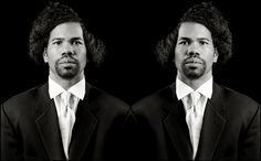 """Rashid Johnson  """"The New Negro Escapist Social and Athletic Club (Emmett)""""  2008  Lambda print  48 1/2 x 73 in. (123.2 x 185.4 cm)  Collection of Elliot and Kimberly Perry, Memphis   Courtesy of the artist and David Kordansky Gallery, Los Angeles, CA"""