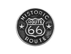 12 Route 66 Metal Shank Buttons 1/2 inch  11 mm  by ButtonJones, $6.00