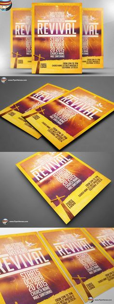 this fall revival flyer template is made for any church program or