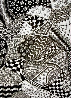 Image detail for -... zentangle is a structured doodle that uses repeating patterns