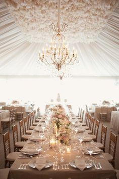 brides of adelaide magazine - neutral wedding - beige wedding - elegant - sophisticated - table setting - marquee - chandelier Marquee Wedding, Wedding Reception Decorations, Wedding Bells, Wedding Table, Our Wedding, Dream Wedding, Wedding Dinner, Reception Design, Tent Wedding