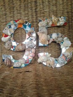 Mosaic House number for our Ponta House House Numbers, Hanukkah, Mosaic, Wreaths, My Style, Frame, Home Decor, House Number Plates, Homemade Home Decor