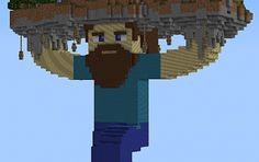 Minecraft House on top of Steve! How do people have the time for this?