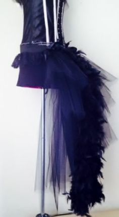 Black Burlesque Moulin Rouge Feather Bustle Belt S.M..L XL Sexy Steampunk Goth | eBay