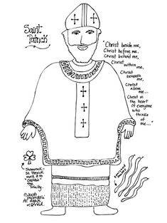 These are some well done coloring pages for St. Patrick