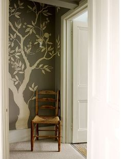 I want a family tree mural with framed pictures in our family room! I am not sure I could paint something like this alone though! Maybe I could get extra artistic help from @alyssafolck? ;)