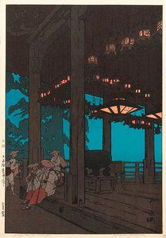 版画ギャラリー。 。 。 鳥居ギャラリー:吉田宏によって東大寺二月堂寺