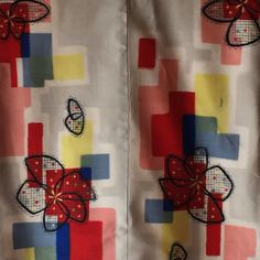 Butterflies, blossoms and blocks. Midcentury modern silk meisen kimono coming soon to the Ajimiichiba.com webshop.