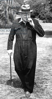 Churchill had these jump suits especially designed so that he could be dressed in an instant during the blitz.