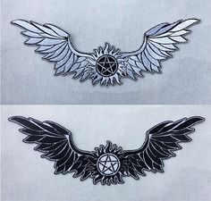 Anti Possession Symbol w/ Wings Supernatural Embroidered Iron on Badge Patches
