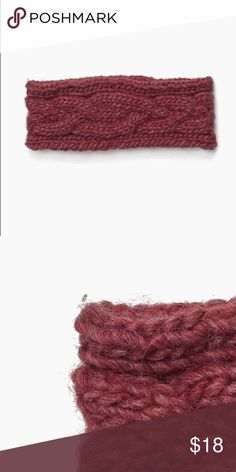 Wool Blend Headband The Geneva: Wine colored chunky, cable knit headband from Krochet Kids International. NWOT. Never worn.   Made in Peru 70% Wool / 30% Acrylic   ✨Top Rated Seller✨  💕Offers Encouraged! 💕 🛍Bundle and save 30%!🛍 📦Fast Shipper📦  Krochet Kids is working to help women and their families out of poverty. Every product is hand signed by the person who made it. krochet kids international Accessories