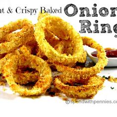 Light & Crispy Baked Onion Rings