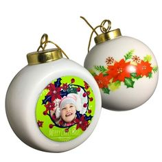 Personalised Christmas tree ornament with your own photo These white glass ball ornaments feature a beautiful rose flourish on one side Reminiscent of classic ornaments you now have the ability Christmas Ideas, Christmas Bulbs, Ball Ornaments, Glass Ball, Beautiful Roses, Holiday Decor, Christmas Light Bulbs