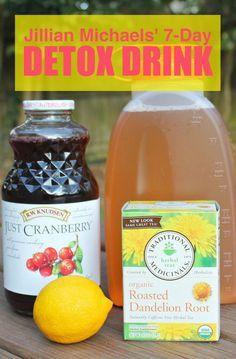 Tea Detox | Detox | juice cleanse | Jillian Michaels' | detox drink | health