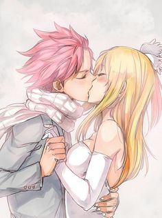 Natsu x Lucy <3   They would be SUCH a good couple in fairy tail!