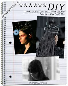 - Trashion Helsinki -: DIY tutorial - Simone Rocha wire crown
