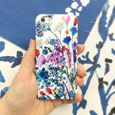 Watercolor Phone Cases Floral iPhone Cases by SenayStudio on Etsy