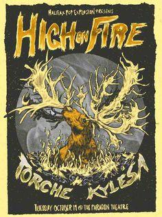 High on Fire, Torche, Kylesa poster from HPX 2010