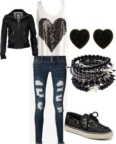 """all black"" by dejat-cheer on Polyvore"