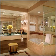 """Bathroom of the Venetian Las Vegas Luxury Suite. I loved staying there. The best luxury hotel stay experience I have had! Vegas Hotel Deals, Las Vegas Suites, Las Vegas Trip, Las Vegas Hotels, Las Vegas Accommodation, Honeymoon Inspiration, Honeymoon Ideas, Palazzo Las Vegas, Spa Rooms"