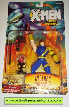 Toy Biz marvel universe X-MEN / X-FORCE series action figures 1995 CYCLOPS 'after Xavier: The Age of Apocalypse NEW - still factory sealed in the original package figure condition: excellent - never r