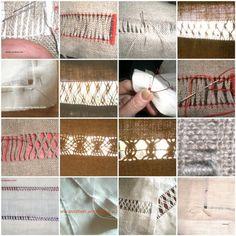 DIY drawn threads / bainha aberta