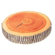 3D Novelty Ginkgo Tree Wood Cushion Stump Log Throw Pillow Home Office Car Soft Decor - Banggood Mobile