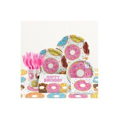 Donut Time Birthday Party Supplies Kit Sleepover Party Favors, Sleepover Birthday Parties, Birthday Ideas, Kids Party Themes, Party Ideas, Donut Party, Donuts, Third Birthday, First Birthdays