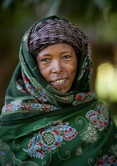 Africa | Portrait of a Wollo woman, Ethiopia