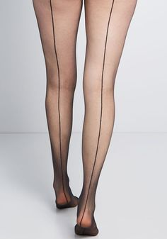 Sultry at the Seams Tights - Allure comes in many forms, and these sheer tights offer a nostalgic take. Detailed with classic black seams down the back, this vintage-inspired pair sparks intrigue with retro and modern ensembles alike. Grunge Look, Grunge Style, 90s Grunge, Soft Grunge, High Heels For Prom, Pink High Heels, Black High Heels, Nylons Heels, Pantyhose Legs